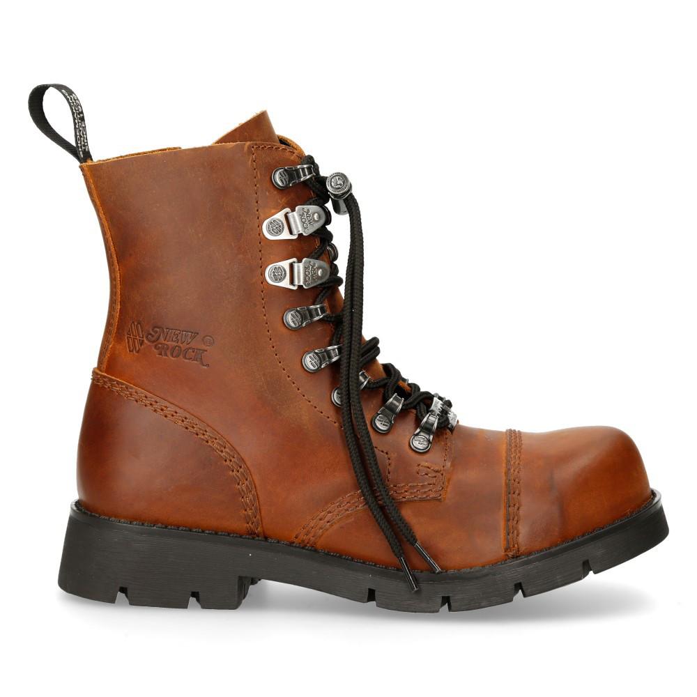 Newrock platform shoes in black leather